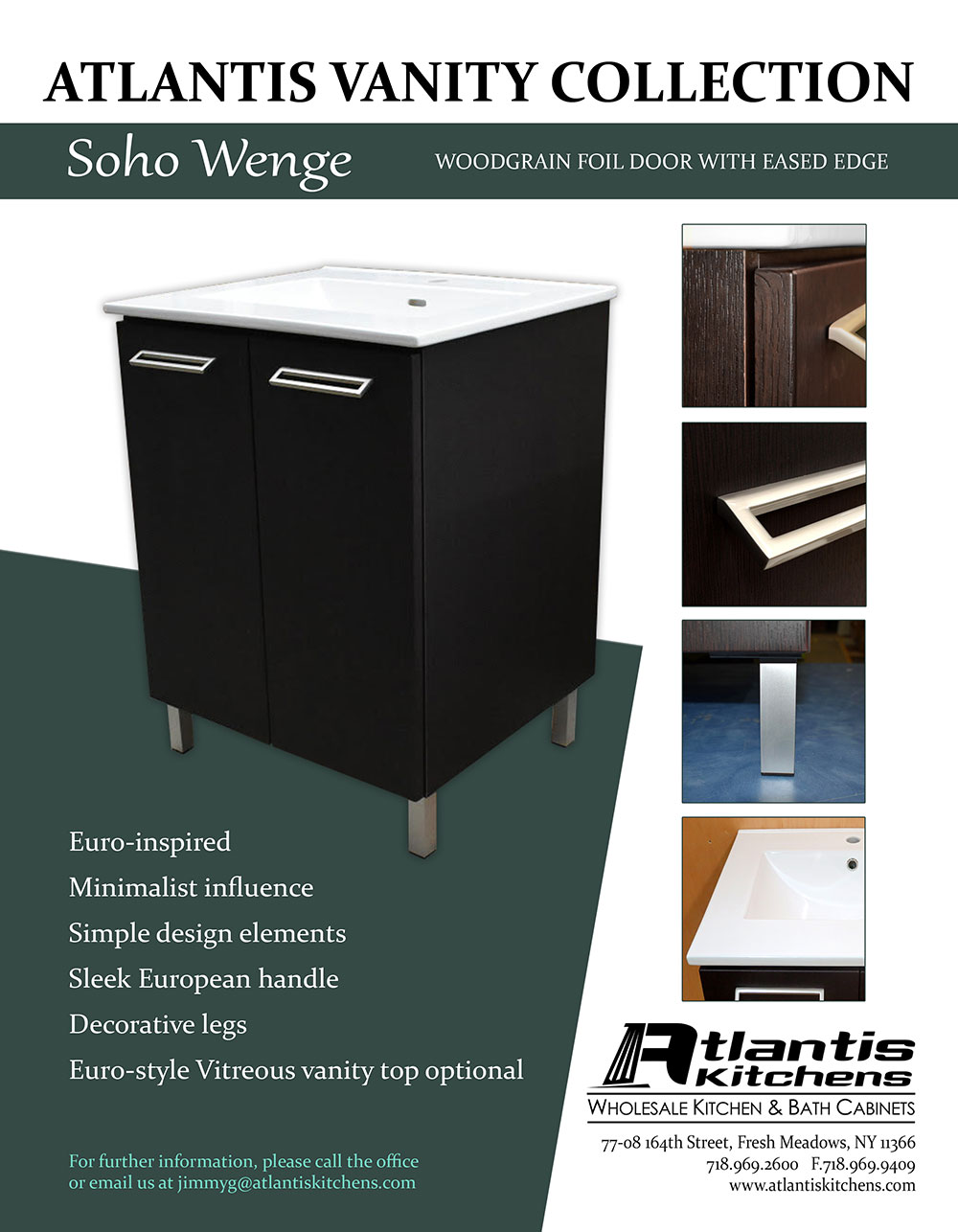Atlantis Vanity Collection Soho Wenge