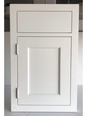 Inset Shaker with Quarter Round Exposed Hinge